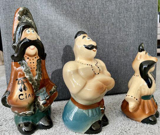 Figurki ceramiczne ukraińskich Kozaków z kreskówek