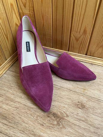 Туфли фуксия (замш кожа)