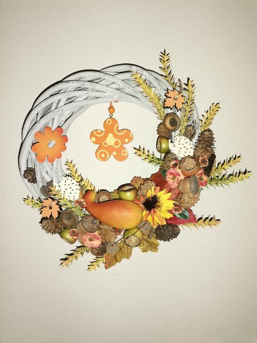 Wianek jesienny wiklina handmade Lubin - image 1