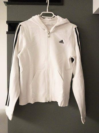 Biała bluza z czarnymi dodatkami adidas S 36