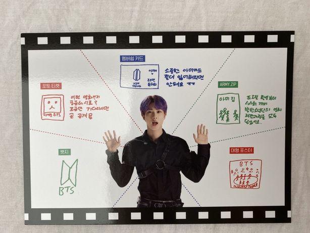 BTS pocztówka/karta Jina z membershipa