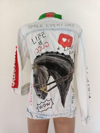 Джинсовая куртка,джинсовка, ручная роспись