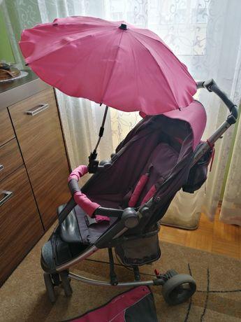 Wózek spacerowy 3kołowy, parasolka