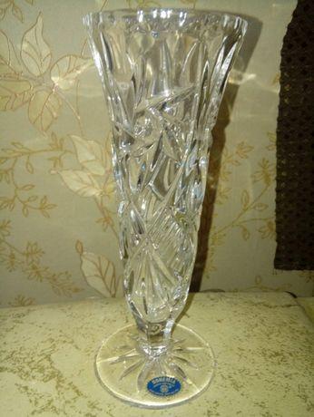 Богемский хрусталь ваза на ножке