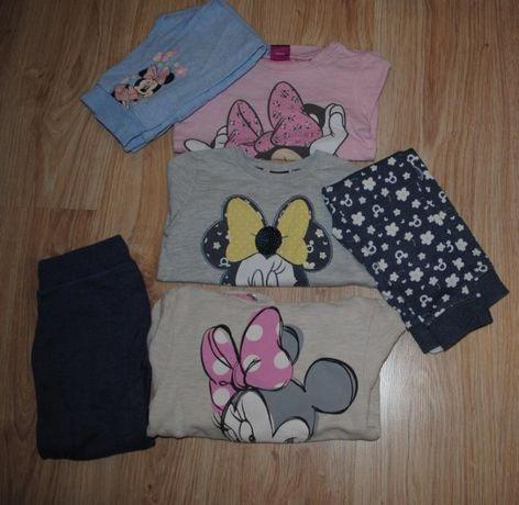 59->3szt dres spodnie bluza MINNIE DISNEY F&F 3-4Y r.104