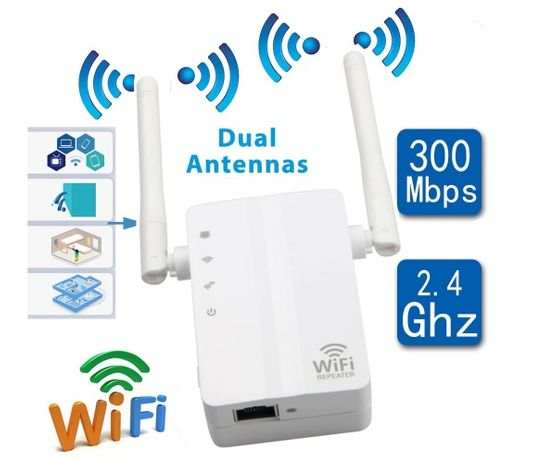 Repetidor Wireless - 300Mbps Wifi Repeater Wireless-N Range Extender S