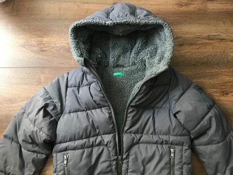 Zimowa kurtka Benetton M 7-8 lat