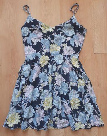 Letnia sukienka zwiewna w kwiaty 34/XS Review wiskoza