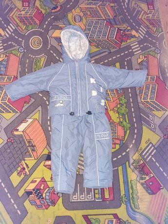 Kombinezon dwuczęściowy na zimę dla chłopca 98cm