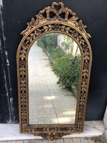 Espelho antigo dourado