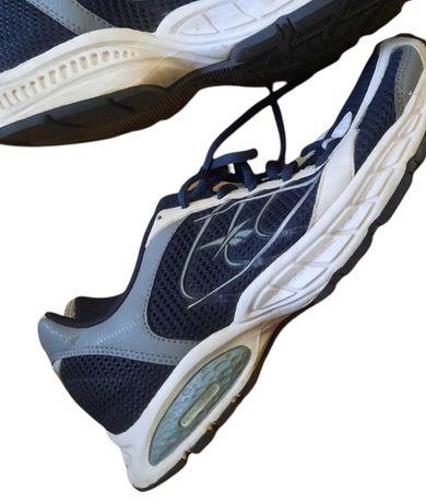 Женские кроссовки синие белые спортивные типа nike adidas