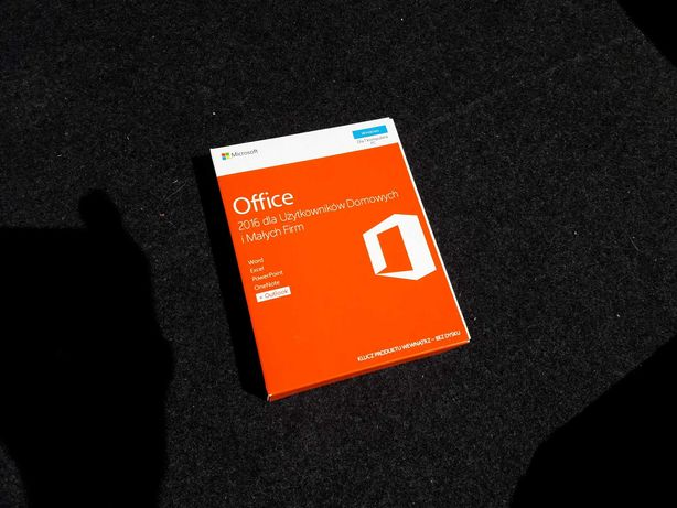 Microsoft Office 2016 Home and Business BOX NOWY ZAFOLIOWANY !