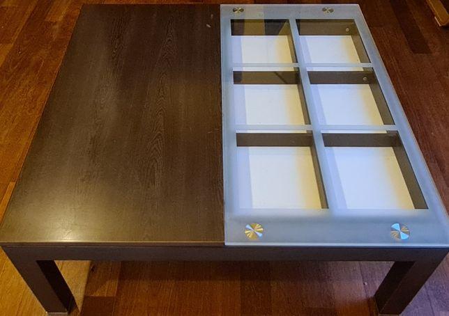 Elegancka ława / stolik z szufladą ekspozycyjną