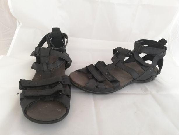 Buty sandały skórzane Ecco r.39, wkładka 25,5cm