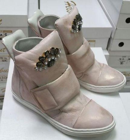 Helbut botki damskie skórzane skóra płaskie r 38 sneakersy