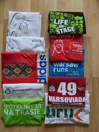 Mega paka: 11 t-shirtów,Adidas,maratony,worek ubrań koszulki