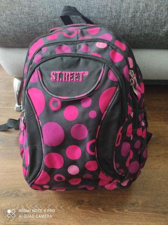 Nowy plecak St.reet czarno-rożowy