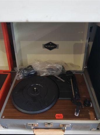 Peggy Sue Gramofon głośniki stereo złącze USB kolor srebrny brąz AUNA