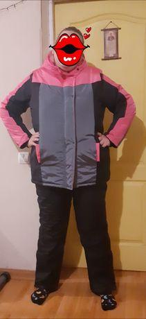 Дешево женский зимний лыжный костюм 56 большого размера