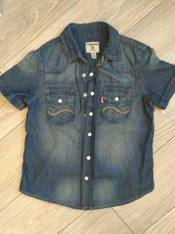 Рубашка джинсовая с коротким рукавом