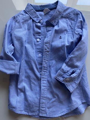 Koszula elegancka piekna wywijany rekaw h&m