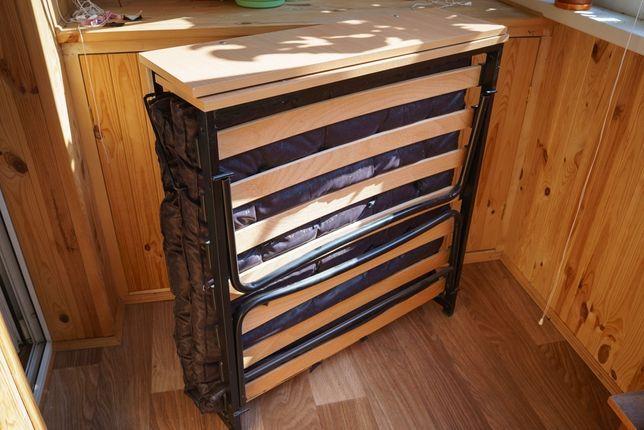 Раскладушка кровать/Раскладушка с матрасом на ламелях