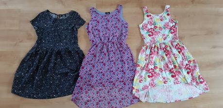 Trzy sukienki 146/152 sukienka