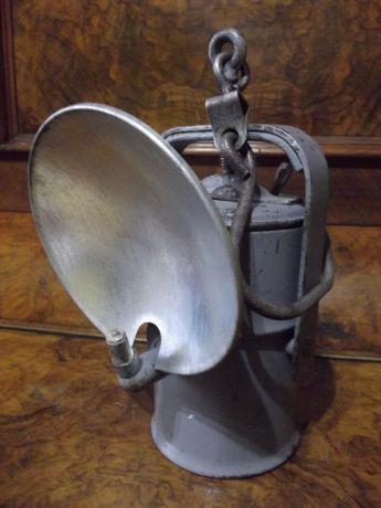 Lampa karbidowa górnicza z blendą i sygnaturą