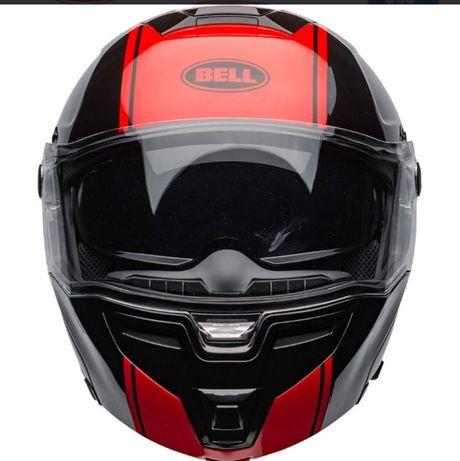 Capacete Bell SRT Modular Ribbon Gloss Black-Red
