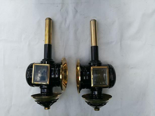Lampy do powozu złoto czarne atrapa