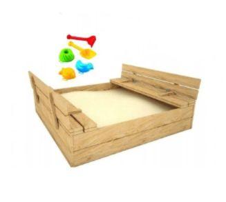 DUŻA PIASKOWNICA Dziecięca Zamykana Z Ławeczkami + Gratis Zabawki