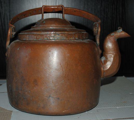 Медь чайник мідний робочий антикварний товстостінний 3л красавчик