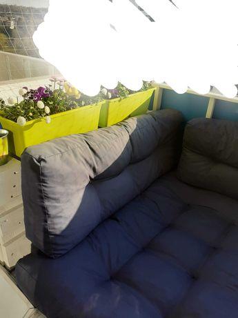 Kanapa z palet + poduszki + 2 kwietniki
