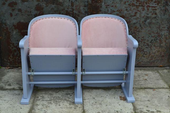 Fotele kinowe po renowacji fotel PRL retro vintage loft art deco antyk