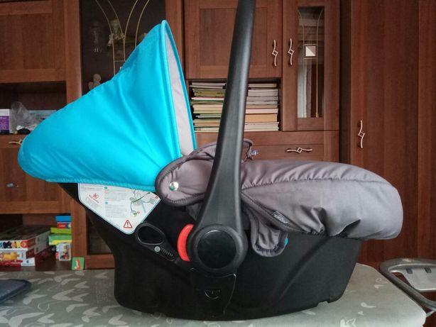Fotelik samochodowy tako 0-10 kg turkusowo szary nosidełko