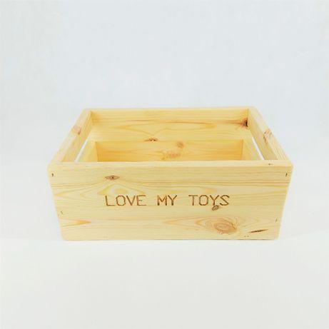 EKO Skrzynka box na zabawki dla Pupila bezbarwny