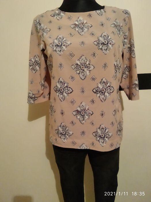 Brązowa bluzka w kwiaty Wiśniowa - image 1