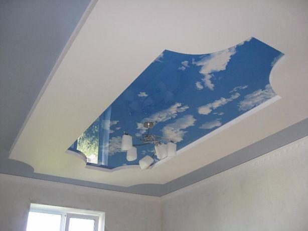Натяжные потолки 155грн. с работой, парящие , двухуровневые, бесщелевы