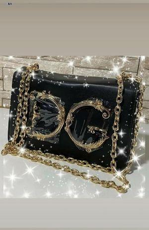 Torebka listonoszka Dolce Gabbana Torba Czarna skórzana Premium