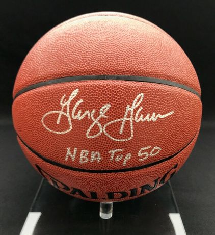 Piłka NBA oryginalny autograf George Gervin certyfikat PSA/DNA