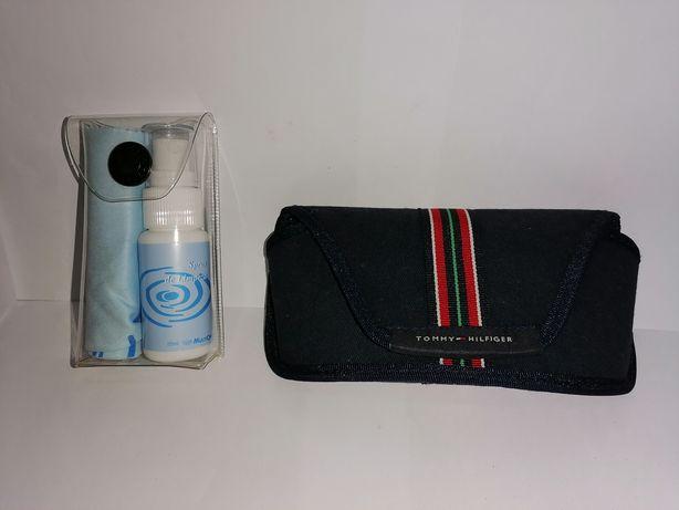 Tommy Hilfiger bolsa de óculos + acessórios de limpeza