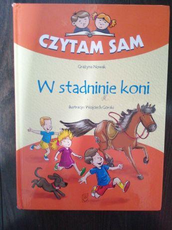 """Książka dla dzieci """"Czytam Sam W stadninie koni"""" Grażyna Nowak"""