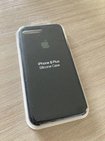 Etui IPhone 8 Plus Silikonowe Czarne Nowe Zapakowane