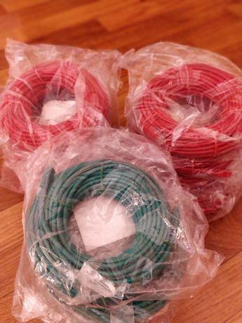 Cabos de Rede/Ethernet NOVOS - 15 metros cat5e - Vermelho e Verde