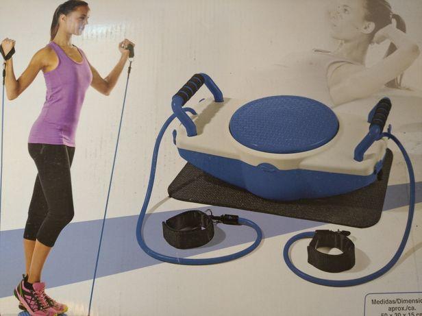 Aparelho de fitness novo sem uso inclui CD de exercícios
