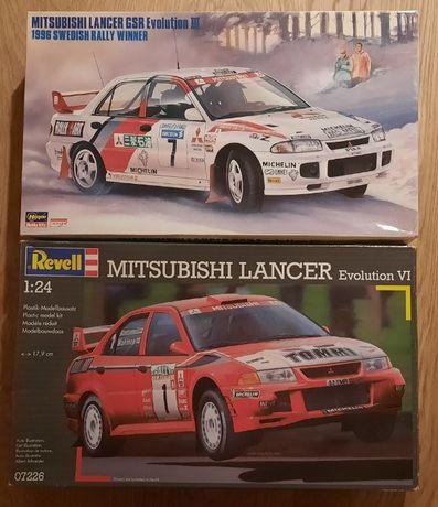 Model Mitsubishi Lancer Evo3 ze Szwecji + Lancer Evo6 z Nowej Zelandii