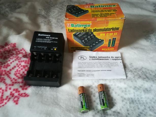 Ładowarka akumulatorów AA AAA MW8168GS +akumulatory 2650mAh