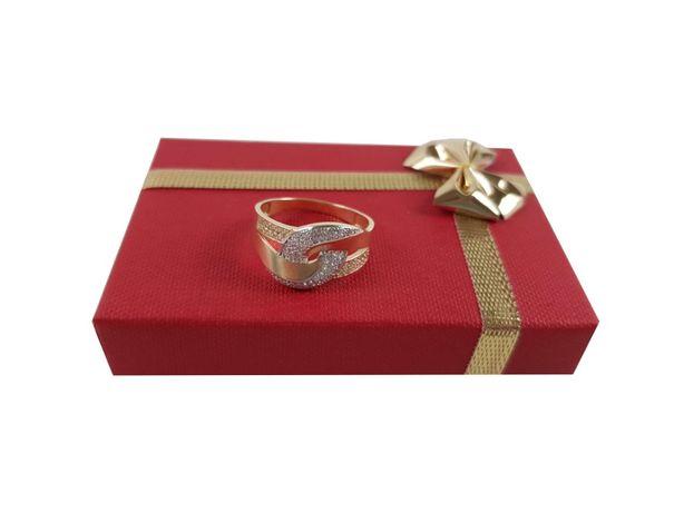 Złoty pierścionek z cyrkoniami P585 3,28G R20