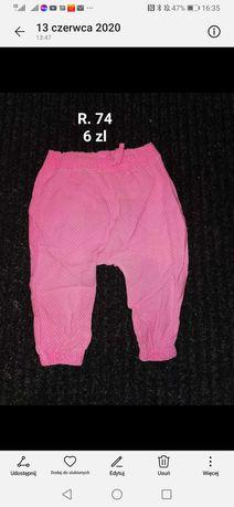 Spodnie  boho Pepco r. 74
