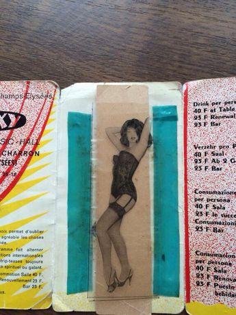"Раритет! Пригласительный билет ""Le sexy cabaret music-hall"" Paris"